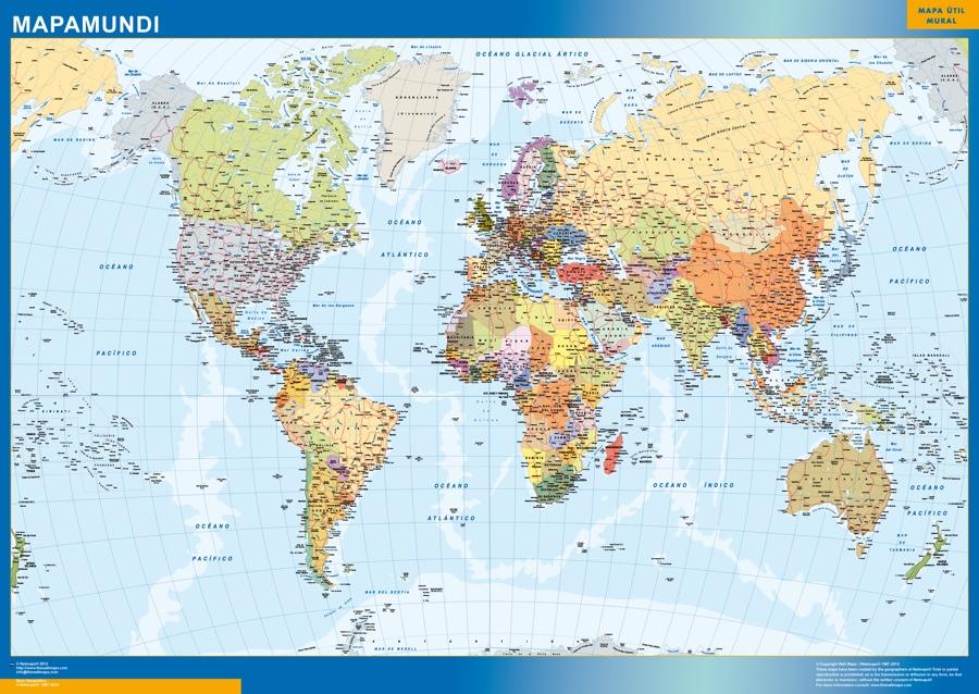 mapa mundo grande