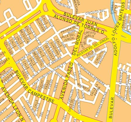 mapa leon zoom
