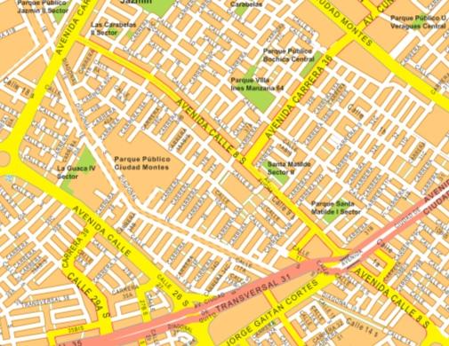 mapa mural bogota