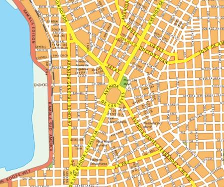 mapa mural montevideo