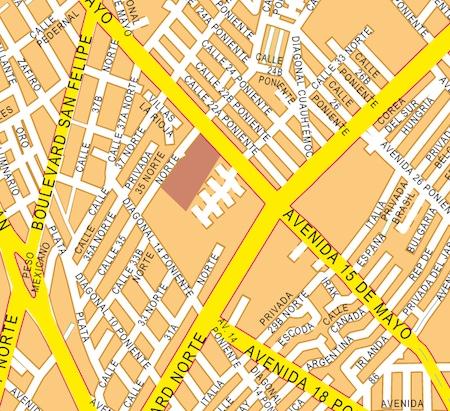 mapa puebla zoom