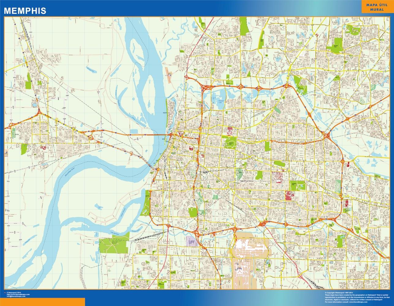mapa Memphis