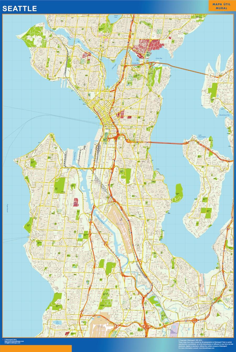 mapa Seattle