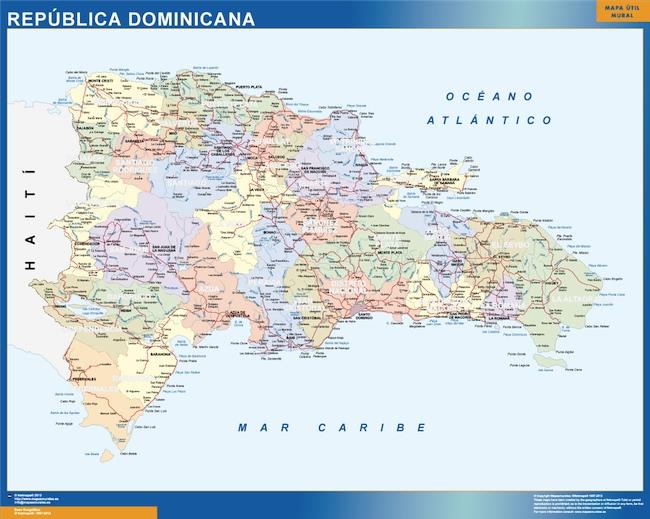 mapa republica dominicana