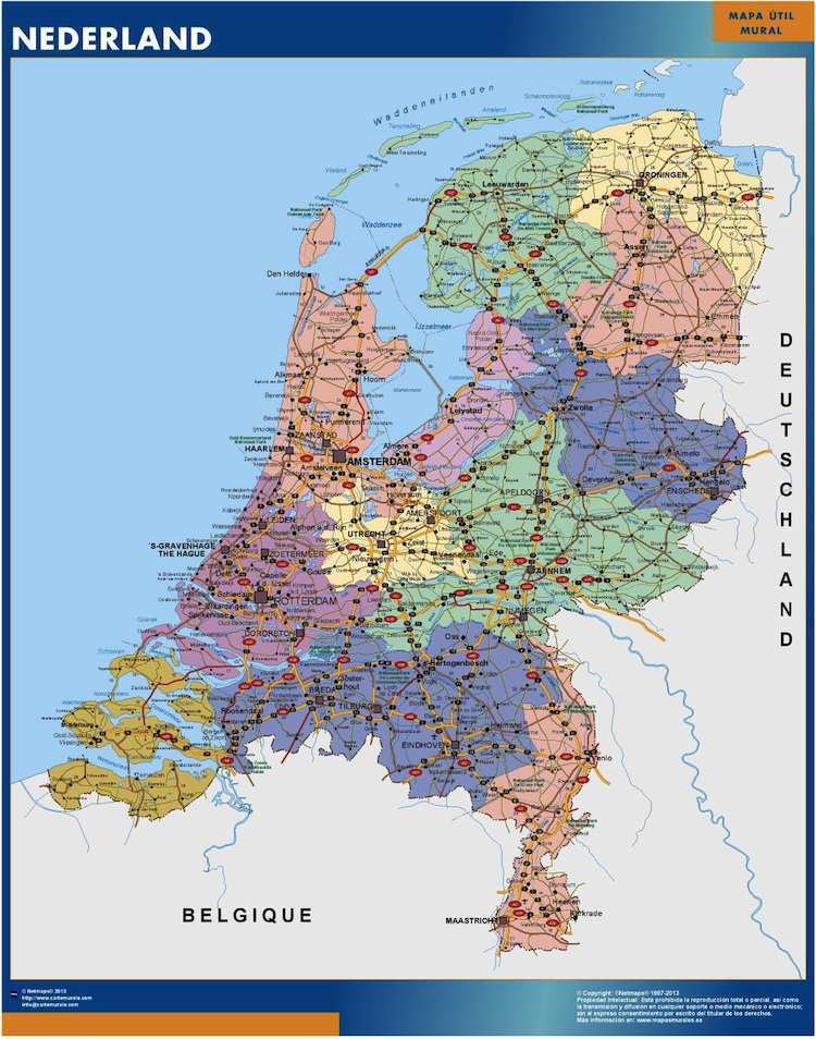 mapa paises bajos