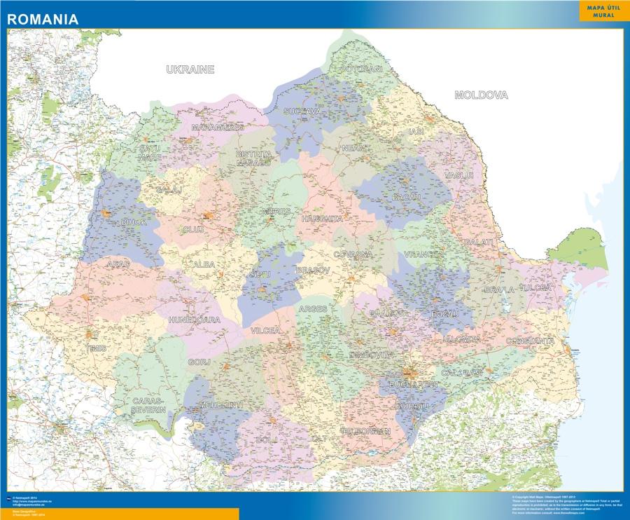 mapa rumania