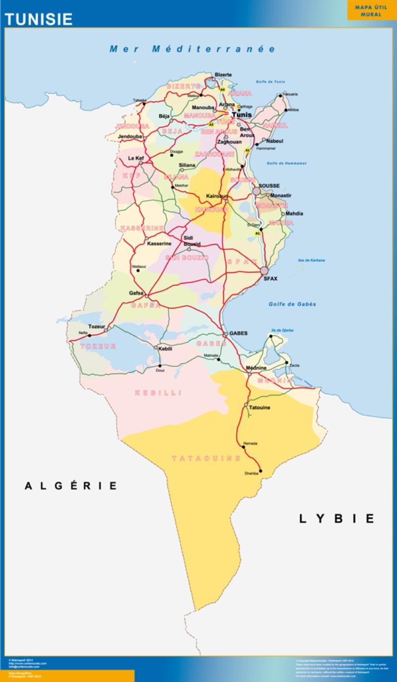 mapa tunez