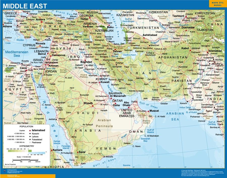 mapa oriente medio