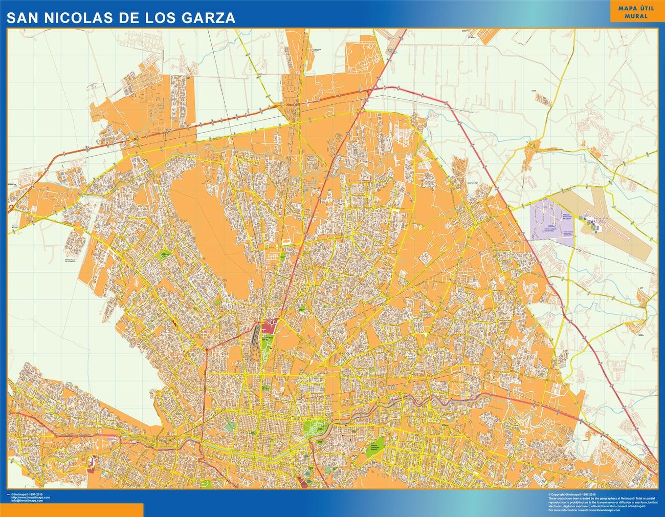 Mapa San Nicolás de los Garza