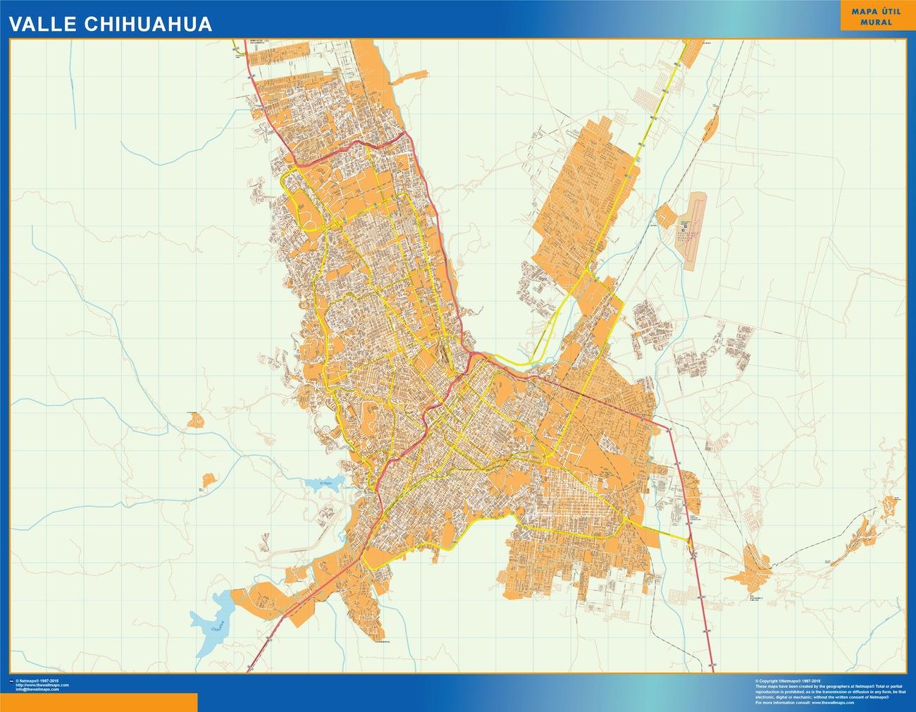 mapa Valle Chihuahua